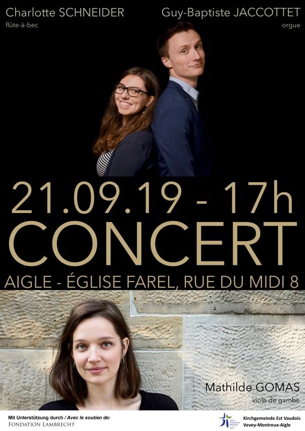 Flyer Konzert 21.09.2019 in Aigle